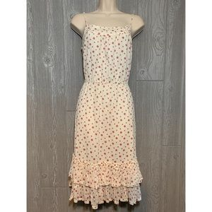 GAP Ivory Cotton Polka Dot Dress Sundress XS